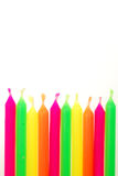 Geburtstag-Kerzen lizenzfreie stockfotografie