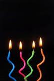 Geburtstag-Kerzen Stockfotografie