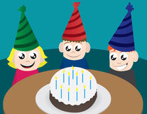 Geburtstag-Kinder stock abbildung