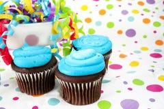 Geburtstag-kleine Kuchen Lizenzfreie Stockbilder
