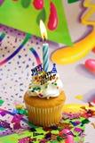 Geburtstag-kleiner Kuchen Lizenzfreie Stockfotos