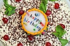 Geburtstag-Kuchen Lizenzfreie Stockfotos