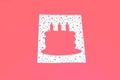 Geburtstag-Kuchen-Schablone Stockfotos