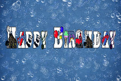 Geburtstag-Luftblasen Stockbild