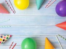 Geburtstag- oder Partyhintergrund Stockfoto