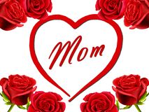 Geburtstag- oder Tageskarte des Mutter zur Mamma mit Rosen Stockfoto