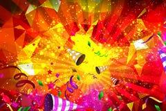Geburtstag oder vibrierender Parteihintergrund Stockbild