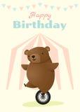 Geburtstag und Einladung kardieren Tierhintergrund mit Bären Stockfotografie