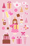 Geburtstagaufkleber Stockbilder