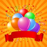 Geburtstagballonauslegung Stockbild