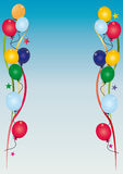 Geburtstageinladungshimmel Lizenzfreie Stockfotos