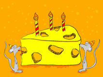 Geburtstaggrußkarte Stockfotos