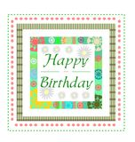 Geburtstaggrußkarte Lizenzfreie Stockbilder