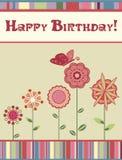 Geburtstaggrußkarte lizenzfreie abbildung