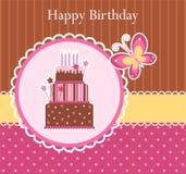 Geburtstaggrußkarte Stockbild