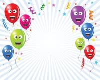 Geburtstaggrußkartenballone Stockbild