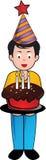 Geburtstagjunge lizenzfreie abbildung
