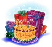 Geburtstagkarte Lizenzfreies Stockbild