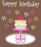 Geburtstagkarte Stockfoto