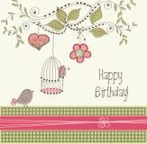 Geburtstagkarte Stockbild