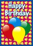 Geburtstagkarte Lizenzfreie Stockbilder