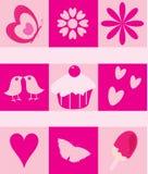 Geburtstagkarte für Mädchenrosa vektor abbildung