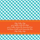 Geburtstagkarte mit Schätzchenwiegenlied Stockfotos