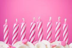 Geburtstagkerzen Stockfoto