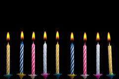 Geburtstagkerzen Lizenzfreies Stockbild