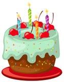 Geburtstagkuchen lizenzfreie abbildung