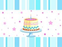 Geburtstagkuchen Lizenzfreie Stockbilder