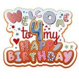 Geburtstags-Einladung Stockfoto