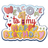 Geburtstags-Einladung Stockfotografie