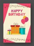 Geburtstags-Einladungs-oder Gruß-Karte Stockfotos