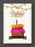 Geburtstags-Einladungs-oder Gruß-Karte Lizenzfreie Stockfotografie