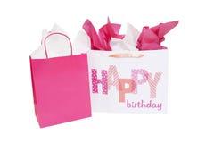 Geburtstags-Geschenk-Tasche Stockfoto