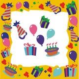 Geburtstags-Grenze Stockfoto