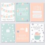 Geburtstags-, Gruß- und Einladungskarte Stockbild