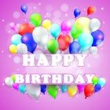 Geburtstags-Hintergrund mit bunten Ballonen Lizenzfreies Stockbild