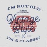 70 Geburtstags-Jahrestags-Geschenk-T-Shirt I m nicht altes I m ein Klassiker, König der Straße fasst mit Oldtimer ab Im Jahre 194 vektor abbildung