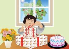 Geburtstags-Junge stockfotos