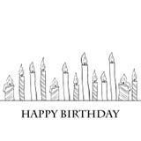 Geburtstags-Kerzen Stockbild