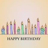 Geburtstags-Kerzen lizenzfreie abbildung