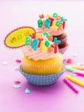 Geburtstags-kleiner Kuchen Lizenzfreies Stockbild