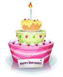 Geburtstags-Kuchen Stockfotos