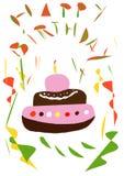 Geburtstags-Kuchen lizenzfreie stockfotos