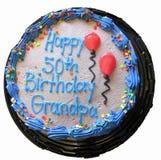 50. Geburtstags-Kuchen lokalisiert Stockfotos