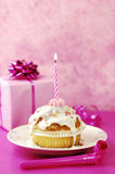 Geburtstags-Muffin Stockfotografie