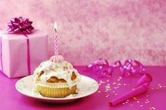 Geburtstags-Muffin Stockbild
