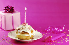 Geburtstags-Muffin Lizenzfreies Stockfoto